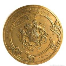 Medallas temáticas: MEDALLA INSTITUT SUPÉRIEUR DE PEINTURE DE BRUXELLES. GRABADOR A. DE TOMBAY. C. 1925. Lote 260047055
