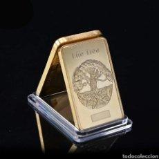 Medallas temáticas: EXCLUSIVO LINGOTE DE ORO CON EL ARBOL DE LA VIDA. Lote 260099860