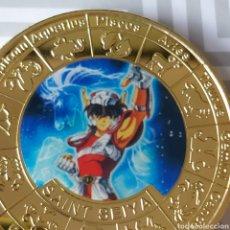 Medallas temáticas: EXCLUSIVA MONEDA DE ORO DE LA COLECCIÓN CABALLEROS DEL ZODIACO.. Lote 260104270