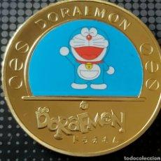 Medallas temáticas: FANTÁSTICA MONEDA DE ORO DE COLECCIÓN DE DORAEMON. MODELO 1.. Lote 260108120