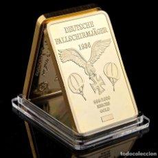 Medallas temáticas: LINGOTE ALEMANIA NAZI ORO 24K DEUTSCHE FALLSCHIRMJÄGER 1936 EDICION LIMITADA. Lote 260606680