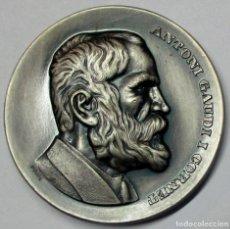 Medallas temáticas: ANTONI GAUDI. MEDALLA DEL INSIGNE ARQUITECTO. GRABADOR: PUJOL. LOTE 0168. Lote 260643955