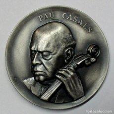 Medallas temáticas: PAU CASALS, 1968. MEDALLA DEL INSIGNE MUSICO Y COMPOSITOR. GRABADOR: PUJOL. LOTE 0170. Lote 260649335