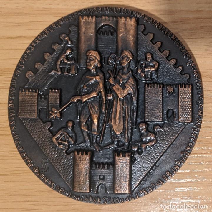 MEDALLA RAIMUNDO DE BORGOÑA CON URRACA DE CASTILLA Y LA RECONSTRUCCIÓN DE LA MURALLA DE AVILA (Numismática - Medallería - Temática)