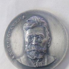 Medalhas temáticas: MEDALLA ANGEL GUIMERA COMISION DE EDUCACION Y CULTURA AYUNTAMIENTO SAN CRISTOBAL DE LA LAGUNA 1982. Lote 262796745