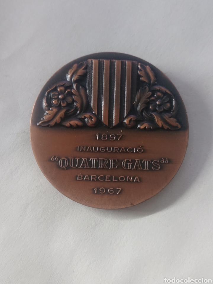 Medallas temáticas: MEDALLA SANTIAGO RUSIŃOL INAUGURACIO QUATRE GATS BARCELONA 1967 - Foto 2 - 262799100