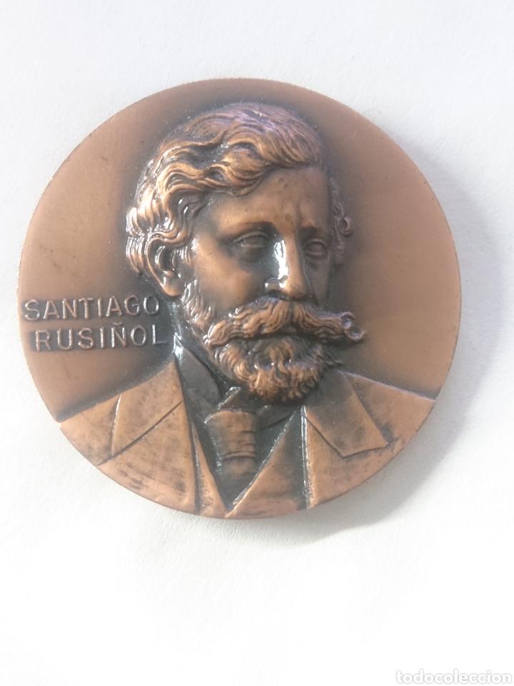 MEDALLA SANTIAGO RUSIŃOL INAUGURACIO QUATRE GATS BARCELONA 1967 (Numismática - Medallería - Temática)