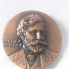Medallas temáticas: MEDALLA SANTIAGO RUSIŃOL INAUGURACIO QUATRE GATS BARCELONA 1967. Lote 262799100