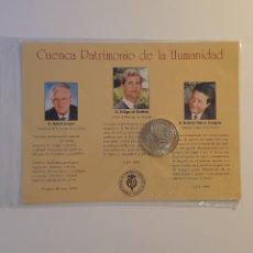 Medallas temáticas: MEDALLA PLATA DE LEY NOMBRAMIENTO POR LA UNESCO DE CUENCA PATRIMONIO DE LA HUMANIDAD. Lote 263079650
