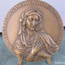 Medallas temáticas: MEDALLA DE BRONCE BIMILENARIO DO NASCIMENTO DE NOSSA SENHORA-NASCIMENTO DA VIRGEM MARIA. Lote 263201385