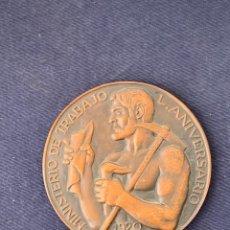 Medallas temáticas: MEDALLA BRONCE MINISTERIO DE TRABAJO L 50 ANIVERSARIO 1920 1970 5CM. Lote 264418864