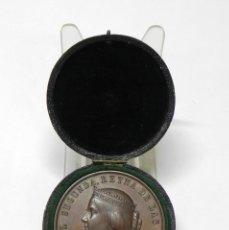 Medallas temáticas: MEDALLA DE BRONCE ISABEL II EXPOSICIÓN DE AGRICULTURA. MADRID 1857. EN SU CAJA ORIGINAL. MUY BUEN ES. Lote 265677849