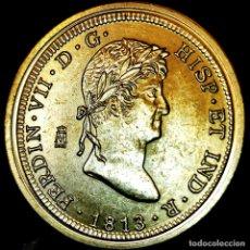 Medalhas temáticas: ⚜️ A2342. BAÑO ORO 24KT. 8 ESCUDOS 1813. CAT. FERNANDO VII. MEDALLA FNMT ED. LIMITADA. 15,1G / 33MM. Lote 267636489