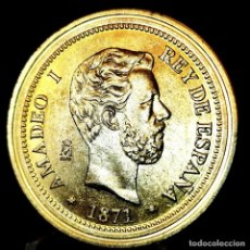 Medaglie tematiches: ⚜️ A2318. BAÑO ORO 24KT. 100 PESETAS 1871. MAD. AMADEO I. MEDALLA FNMT ED. LIMITADA. 15G / 33MM. Lote 267639104