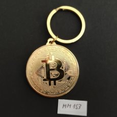 Medallas temáticas: MONEDA LLAVERO BITCOIN. DORADO.. Lote 269146433