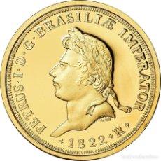 Medallas temáticas: [#900173] BRASIL, MEDALLA, PETRUS IER, 1822, RESTRIKE, EBC+, ORO. Lote 269193058
