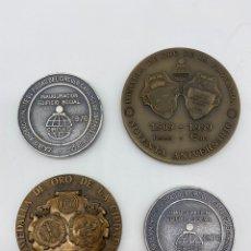 Medallas temáticas: LOTE DE MEDALLAS BURGOS MEDALLA DE ORO PROVINCIA CIUDAD CAJA CÍRCULO CONMEMORATIVAS. Lote 269479078