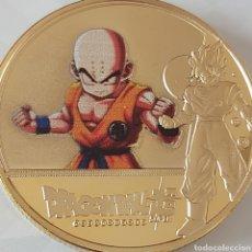 Medallas temáticas: EXCLUSIVA MONEDA DE LA SERIE DE LOS 80 DRAGON BALL Z (BOLA DEL DRAC). Lote 269940098