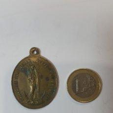 Medallas temáticas: GRAN MEDALLA VIRGEN MARIA S XIX. BRONCE. COLOCAME SOBRE TU CORAZON. Lote 270242603
