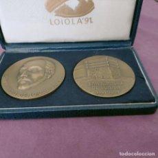 Medallas temáticas: MEDALLA DE BRONCE DE SAN IGNACIO DE LOYOLA, 1491 - 1991, EN TODO AMAR Y SERVIR. 2 MEDALLAS. Lote 274225783