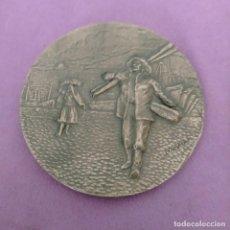 Medallas temáticas: MEDALLA CONMEMORATIVA-BRONCE-ESCENA RURAL-GALICIA-FIRMADA POR M. ACUÑA 213 GR. Lote 274231298