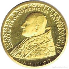 Medallas temáticas: MEDALLA DE ORO PAPA JUAN XXIII CONCILIO VATICANO - 3.8 GRAMOS. Lote 278185333