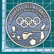 Medallas temáticas: MEDALLA DE BRONCE DE LOS III JUEGOS DEL ATLANTICO, CANARIAS-MADEIRA-AZORES 1989. Lote 278187343