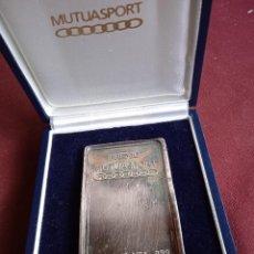 Medallas temáticas: LINGOTE DE PLATA PURA DE 250 GRAMOS. MUTUASPORT. Lote 279470653