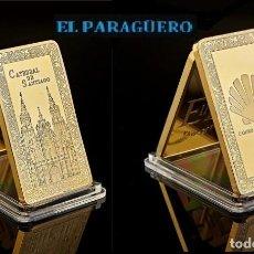Medallas temáticas: ESPAÑA LINGOTE ORO 24 KILATES HOMENAJE AL CAMINO DE SANTIAGO Y CATEDRAL DE SANTIAGO DE COMPOSTELA. Lote 280867318