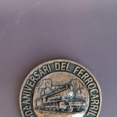 Medallas temáticas: MEDALLA 50É ANIVERSARI DEL FERROCARRIL. LA POBLA DE SEGUR. 1951-2001. VIAJE INAUGURAL.. Lote 286808803