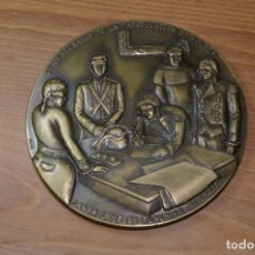 Medallas temáticas: SEGUNDO 2º CENTENARIO CAPITULACION DE NELSON HOGAR CANARIO DE BARCELONA A LOS HEROES...1997 7,7 CMS. Lote 286965398