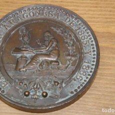 Medallas temáticas: EXPOSICION ARAGONESA 1885 Y 1886 REAL SOCIEDAD ECONOMICA ARAGONESA. Lote 286968058
