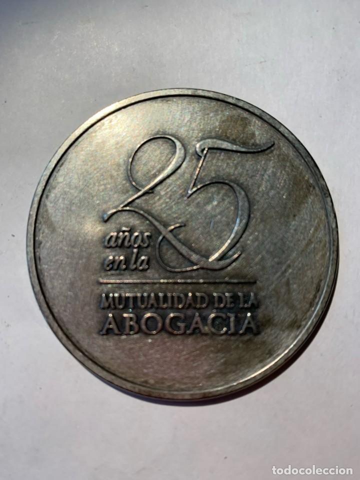 MEDALLA 25 AÑOS EN LA MUTUALIDAD DE LA ABOGACIA (Numismática - Medallería - Temática)