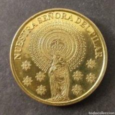 Medallas temáticas: MEDALLA NUESTRA SEÑORA DEL PILAR ZARAGOZA MUY BONITA DORADA. Lote 287681203