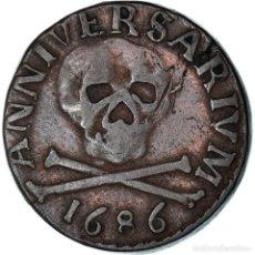 Medallas temáticas: [#908554] BÉLGICA, TOKEN, SAINT LAMBERT - LIÈGE, 1686, MBC, COBRE. Lote 287882073