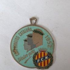 Medallas temáticas: MEDALLA CAMPEONATOS CATALUÑA WATER-POLO 1952 F.C.N.. Lote 288652008