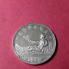 Medallas temáticas: MEDALLA PLATA CENTENARIO DE LA PESETA. 1869-1969.. Lote 288736568