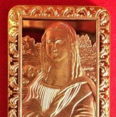 Medallas temáticas: LINGOTE DE ORO LEONARDO DA VINCI MONA LISA ¡TIRADA LIMITADA Y ENUMERADA¡. Lote 182535243