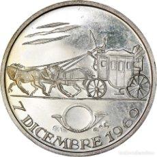 Medallas temáticas: [#181196] ITALIA, MEDALLA, GIORNATA DEL FRANCOBOLLO, ARTS & CULTURE, 1969, EBC, PLATA. Lote 289227898