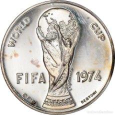 Medallas temáticas: [#181198] ALEMANIA, MEDALLA, FOOTBALL, FIFA WORLD CUP, SPORTS & LEISURE, 1974, BERTONI. Lote 289228793