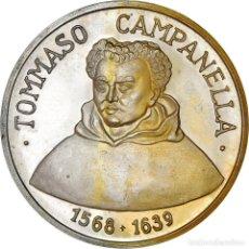 Medallas temáticas: [#181187] ITALIA, MEDALLA, TOMMASO CAMPANELLA, ARTS & CULTURE, 1968, EBC+, PLATA. Lote 289228948