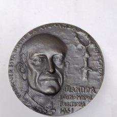 Medallas temáticas: MEDALLA MANUEL DE FALLA LA ATLÁNTIDA ESTRENO MUNDIAL BARCELONA 1961. Lote 289887303