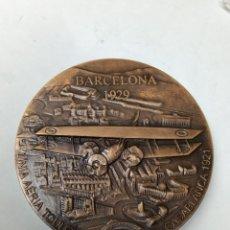 Medallas temáticas: MEDALLA LINEA AERIA TOULOUSE BARCELONA CASABLANCA 1921 SALON INTERNACIONAL DE LOGISTICA EL CONSORCI. Lote 289891238