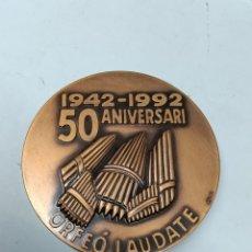 Medallas temáticas: MEDALLA 50 ANIVERSARI ORFEO LAUDATE 1942-1992. Lote 289895388