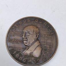 Medallas temáticas: MEDALLA JESÚS GURIDI EXPOSICIÓN FILATÉLICA 1 CENTENARIO DE SU NACIMIENTO 1886-1986 VITORIA. Lote 289896743