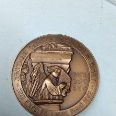Medallas temáticas: MEDALLA CENTENARI CAPELLA STA MARIA DE RIPOLL CERCLE FILATÈLIC I NUMISMÀTIC RIPOLL 1993. Lote 289897488