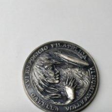 Medallas temáticas: MEDALLA XVI EXPOSICIÓ FILATELICA CALELLA 50 ANIVERSARI DEL VOL DEL DIRIGIBLE GRAFF ZEPPELIN. Lote 289904568