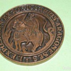 Medallas temáticas: EXPOSICION ANTICUARIOS ARAGONESES 1981 ZARAGOZA PALACIO DE LA LONJA 7 CMS DIAMETRO APROX. Lote 290858443