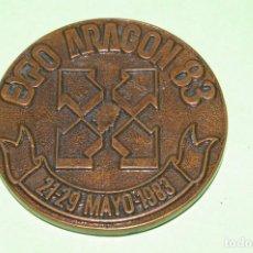 Medallas temáticas: FERIA OFICIAL NACIONAL MUESTRAS ZARAGOZA EXPO ARAGON 83 1983 MEDALLA 57 MM DIAMETRO. Lote 290858733