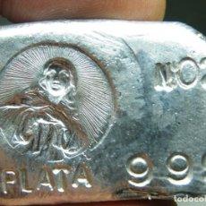 Medallas temáticas: LINGOTE PLATA PURA-50 GRAMOS-MOTIVO RELIGIOSO-NUMERADO-PLATA 999. (ELCOFREDELABUELO). Lote 293799673